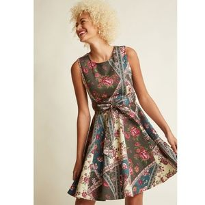 Modcloth Girl Meets Twirl Dress in Collage, 4X